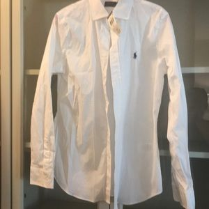Ralph Lauren white long sleeve dress shirt
